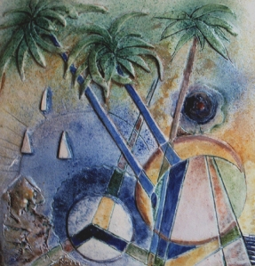 """""""Riviera ligure"""", piastra in ceramica"""