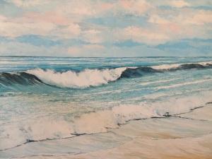 Mare d'inverno, olio su tela, cm 150x100
