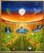 La bellezza dell anima nel creato cm 100 x 120 olio su tela