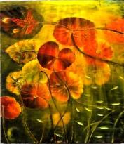 Vita lacustre olio su tela cm. 60x70